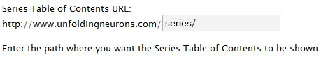 Series Table of Contents URI