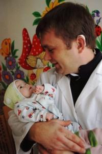 Me holding Konstantine
