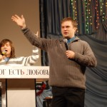 Preaching at Krivoy Rog Church