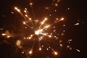 Fireworks at Sonshine Orphanage